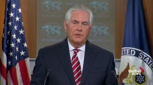 Tillerson commends North Korea for its restraint recently